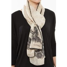 Valentino Silk Printed Scarf (3.386.520 IDR) ❤ liked on Polyvore featuring accessories and scarves