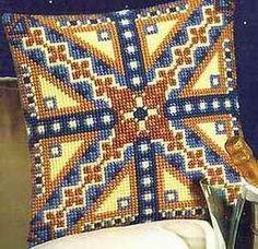 Gallery.ru / Фото #1 - ***** - celita Blackwork, Dark Wood Bedroom, Palestinian Embroidery, Needlepoint Pillows, C2c, Innovation Design, Cross Stitch Patterns, Mandala, Antiques