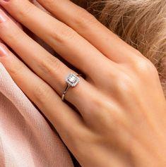2.0Ct Baguette Cut Diamond Women's Halo Engagement Ring 14k White Gold Finish | eBay