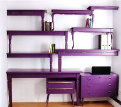 Whimsical desk arrangement