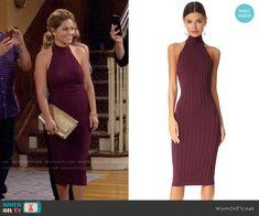 3b72ead74b DJ s purple halter neck midi dress on Fuller House. Outfit Details   https  . WornOnTV