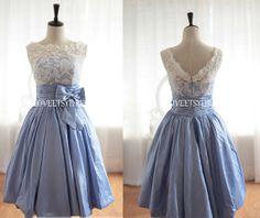 Bridesmaid dressCocktail dressParty dressBlue by loveetsydress, $126.00