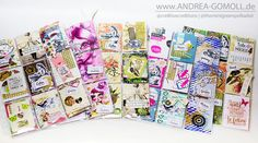 Creative Creations by Andrea Gomoll | Pocket Letter Pals: bunch of outgoing Pocketletters | http://andrea-gomoll.de