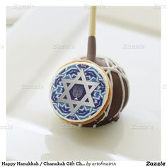 Star of David and Menorah Design Hanukkah Gift Chocolate Cake Pops. Matching cards, postage stamps and other products available in the Jewish Holidays / Hanukkah Category of the artofmairin store at zazzle.com