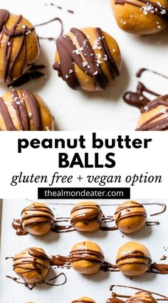 Healthy Peanut Butter Balls made with just 5 ingredients! They're the perfect afternoon or post-workout snack, and they're ready in under 10 minutes.