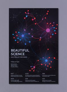 For this self-guided Final Studio project I created a network visualization of statistically estimated connections between neurons in a localized region of a rat's brain. To do this I learned Gephi, an open source network analysis tool, and reacquainted m… Poster Design, Map Design, Information Architecture, Neurons, Abstract Shapes, Data Science, Data Visualization, Graphic Design Illustration, Design Crafts