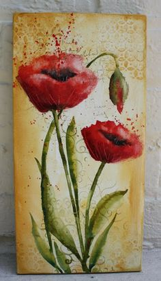 "Art du Jour by Martha Lever: ""Painting Poppies"" with Absorbent Ground"