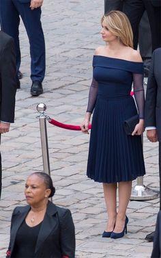Angélica Rivera se decanta por un vestido de Benito Santos para su primer día de gira por Francia