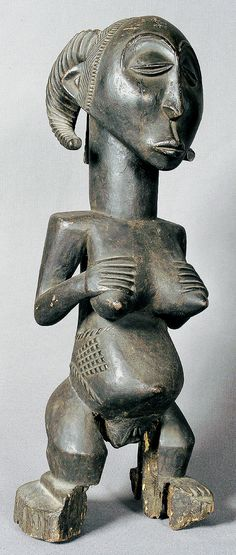 "Hemba: figure of ancestor ""singiti"". h 59 cm Roman Sculpture, Art Sculpture, Estilo Tribal, Afrique Art, African Life, Ancient Goddesses, African Sculptures, Art Premier, Spirited Art"