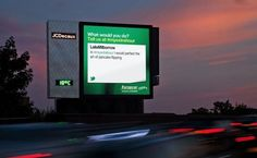 Europcar launched a live digital outdoor campaign to raise awareness of its new FreeDeliver service, which offers customers free delivery and pickup of hired cars. To celebrate the fact that this essentially gives people an hour of their time back, they introduced a digital billboard that features a livestream of tweets using the hashtag #myextrahour, where people share what they are going to do with the extra hour they got back, thanks to Europcar. UK, 2011.