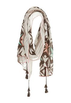 Embroidered side stitch printed scarf (original price, $18) available at #Maurices