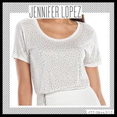 JENNIFER LOPEZ Embellished Tee JENNIFER LOPEZ Embellished Tee. NWOT. Jennifer Lopez Tops Tees - Short Sleeve