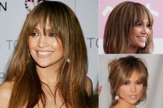 Jennifer Lopez - Best celebrity fringes - fringe hairstyles