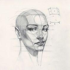 "Drawing Pencil Portraits - 33.4 mil curtidas, 140 comentários - FERHAT EDİZKAN (Zeynep Edizkan) no Instagram: ""Reilly Head Abstraction method, portrait from imagination #imagination #illustration #drawing…"" Discover The Secrets Of Drawing Realistic Pencil Portraits"