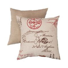 Decorative French Laundry Square Toss Pillow #goodhousekeeping #happyroom