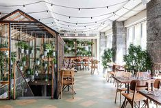 <p>Väkst restaurant in Copenhagen is a green oasis in the middle of the city's Sankt Peders Stræde. Inspired by the idea of recycling, it is part of the Cofoco restaurant group, bringing the ess