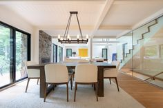 Open plan dining room Construction, Lake Cottage, Open Plan, Architecture, Cool Kitchens, New Homes, Dining Room, Modern Houses, Table