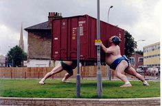 Sumo Art, Lewisham, London. This used to be on the roundabout opposite the library.