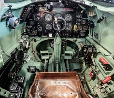 life-is-aviation - Spitfire cockpit Home ~ Aircraft Photos, Ww2 Aircraft, Military Aircraft, Spitfire Model, Spitfire Airplane, De Havilland Vampire, Remembrance Day Art, South African Air Force, Aircraft Interiors