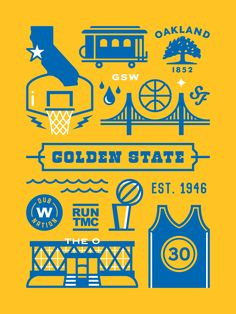Golden State Warriors by Elias Stein Golden State Warriors Wallpaper, Golden State Warriors Basketball, Warrior Logo, Nba Wallpapers, Basketball Art, Curry Basketball, Larry Bird, Oklahoma City Thunder, Stephen Curry