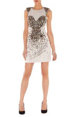 Klänningar | METALLIC BEADED DRESS | Karen Millen