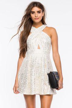 A'GACI | Cross Halter Paisley Shine Dress | #agaci