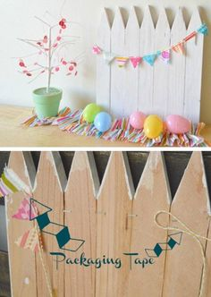 Mini White Picket Fence | Click Pic for 22 DIY Easter Decor Ideas for the Home | Easy Easter Decorations for Kids to Make