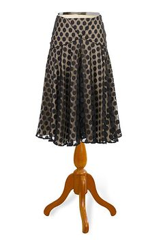 Swirling dots skirt at eShakti Natural Clothing, Shops, Full Circle Skirts, Girl With Curves, Cute Skirts, Signature Style, Custom Clothes, Pretty Outfits, Autumn Winter Fashion