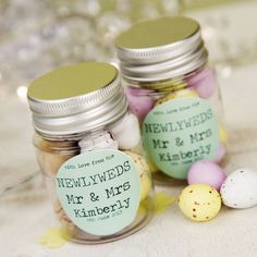 I've just found Personalised Wedding Favour Sticker Jar. Stylish personalised wedding favour jars, ideal as a place settings for your wedding tables.. £3.50