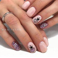 Acrylic Nails Natural, Cute Acrylic Nails, Natural Nails, Square Nail Designs, Short Nail Designs, Nail Design For Short Nails, Kid Nail Designs, Pink Nails, My Nails