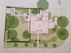 Tuinplan bij landelijke woning te Mol. Landscape Plans, Floor Plans, France, How To Plan, House, Haus, French Resources, Home, Floor Plan Drawing