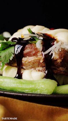 【Cooking up】 handmade pork chow, Sushi Recipes, Asian Recipes, Cooking Recipes, Sweet Recipes, Confort Food, Tasty, Yummy Food, Creative Food, Food Videos