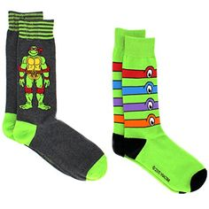 TMNT Teenage Mutant Ninja Turtles Teen Adult Mens 2 pack Crew Socks Tween Teen Adult Kids #TMNT #TeenageMutantNinjaTurtles #Socks #NoveltySocks #FathersDay #Ninja #Michelangelo #Donatello #Leonardo #Raphael