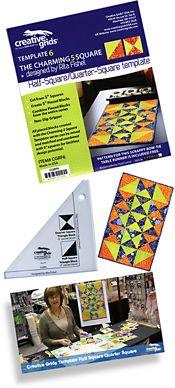 Creative Grids Templates & showcases the Half Square/Quarter Square Template By Rita Fishel £8.95