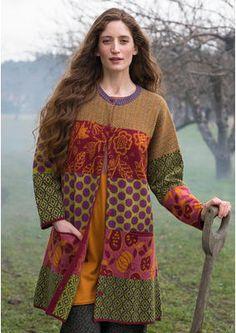 """#Farbbberatung #Stilberatung #Farbenreich mit www.farben-reich.com Strickjacke """"Hong Kong"""" aus gefilzter Wolle 66206-31.jpg"""