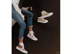 MMSIMS Positive Sneakers & Flowers - The Sims 4 Download - SimsDom