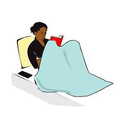 animated girl reading book gif