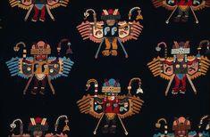 Mantle with bird impersonators, Paracas, c. 200BCE-200CE