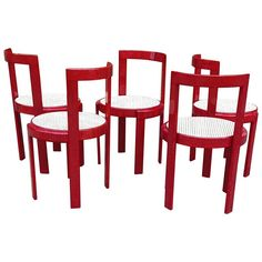 Rare Italian Modernist Bent Plywood Dining Chairs | From a unique collection of antique and modern side chairs at https://www.1stdibs.com/furniture/seating/side-chairs/