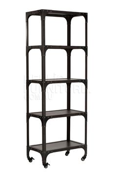Industrial Bookshelf   |  French Vintage Metal 4 Tier Shelf