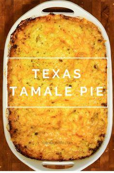 Texas Tamale Pie - Food Restock Mexican Cornbread Casserole, Jiffy Cornbread, Enchilada Casserole Beef, Chili Relleno Casserole, Enchilada Pie, Tamale Casserole, Casserole Dishes, Ravioli Casserole, Noodle Casserole