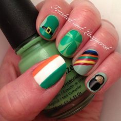 trashedandlacquered ST. PATRICK 'S DAY #nail #nails #nailart