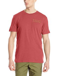 prAna Mens Untouched Slim Fit Jersey Red Rock Heather XLarge -- Check out this great product.