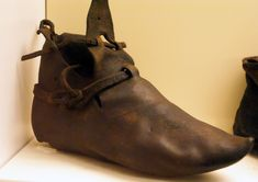 Leather Shoe - Probably 14th/15th Century Item #1913:3 National Museum of Ireland