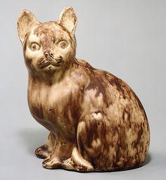 Staffordshire cat figurine, England c. 1750 (in The Metropolitan Museum of Art, New York, USA)