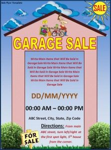 yard sale flyer free template