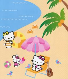 Hello Kitty at the beach love from croatie
