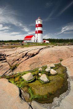 Lighthouse, Pointe-des-Monts, Quebec, Canada