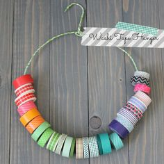 Organize Washi Tape with a hanger!