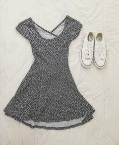 babydoll dresses & converse